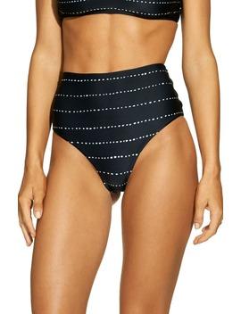 Stripe Dot High Waist Bikini Bottoms by Vix Swimwear