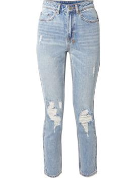 Slim Pin Distressed High Rise Skinny Jeans by Ksubi