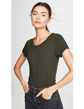 Cory Scoop Neck Tee by L'agence