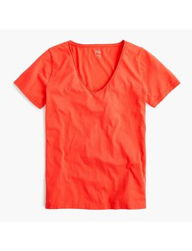 Supersoft Supima® Raw Edge V Neck T Shirt by Supersoft Supima