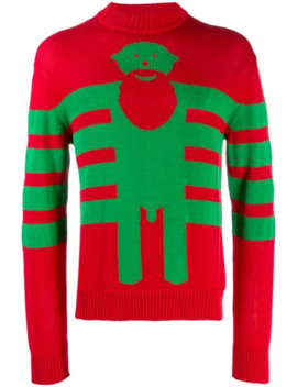 Sexclown Knitted Intarsia Jumper by Walter Van Beirendonck Pre Owned