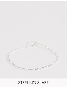 Asos Design Sterling Silver Bracelet In Ball Chain by Asos Design