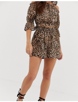 Influence Leopard Print Shorts Beach Two Piece by Shorts