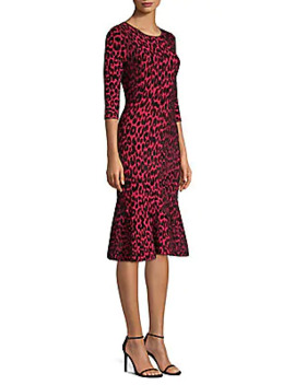 Textured Leopard Mermaid Dress by Milly