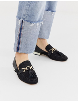 River Island Loafers With Tassel Detail In Black by River Island