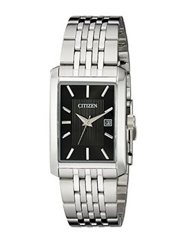 Citizen Men's Stainless Steel Rectangular Watch by Citizen