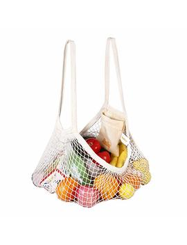Dimi Day Cotton Net Shopping Tote Ecology Market String Bag Organizer For Grocery Shopping &Amp; Beach, Storage, Fruit, Vegetable by Dimi Day