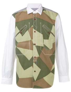 Paneled Camouflage Shirt by Junya Watanabe Man