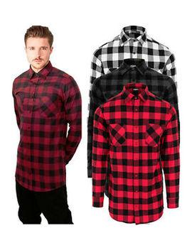 Urban Classics Men's Extra Long Flannel Check Shirt Wood Chopper Shirt Tb1000 by Urban Classics