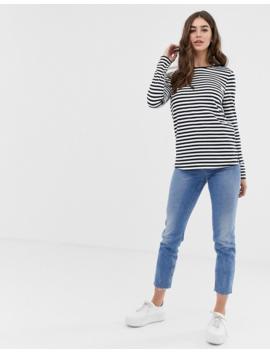 Asos Design Tall Cute Long Sleeve T Shirt In Stripe by Asos Design