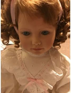 22 In Roma Girl Thelma Resch Porcelain World Gallery Blonde Blue Eyed Doll by World G Allery Of Dolls
