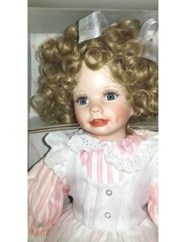 """Hamilton Collection Doll 16"""" """"Christina"""" By Laura Cobabe Porcelain by The Hailton Collection"""