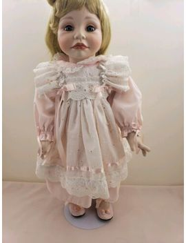 """The Hamilton Collection Heather By Joke Grobben Porcelain 18"""" Doll Numbered by Hamilton Collection"""