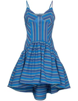 Flared Stripe Print Dress by Rosie Assoulin