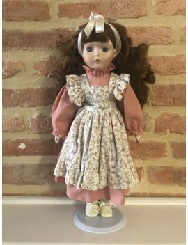 Porcelain Doll With Stand by Ebay Seller