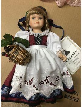 """Rhine Girl Schneider Handmade German Porcelain Doll 13"""" With Certificate by Schneider"""