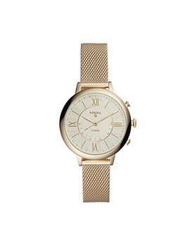 Fossil Q Women's Q Jacqueline Hybrid Stainless Steel Watch With Mesh Strap, Gold Tone, 14 (Model: Ftw5020) by Fossil Q