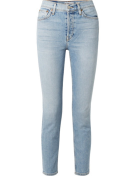 Comfort Stretch Cropped High Rise Skinny Jeans by Re/Done