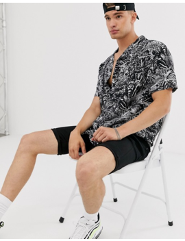 Pull&Amp;Bear Print Shirt In Black by Pull&Bear