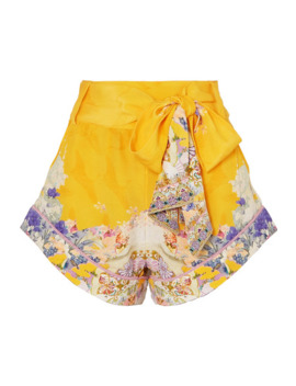 Embellished Printed Silk Crepe De Chine Shorts by Camilla