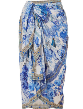 Printed Cotton And Silk Blend Pareo by Camilla