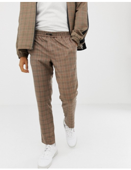 Mennace Smart Tracksuit In Stone Check by Asos Brand