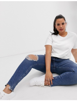 Asos Design Curve Organic Cotton Crew Neck T Shirt In White by Asos Design