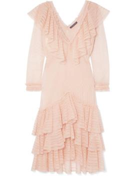 Ruffled Knitted Silk Mini Dress by Alexander Mc Queen