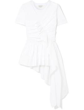 Draped Cotton Jersey T Shirt by Alexander Mc Queen