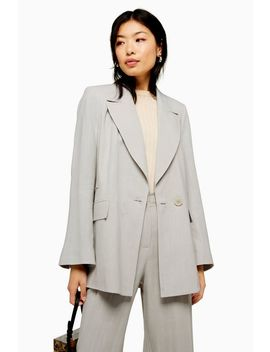 Pale Blue Suit With Linen by Topshop
