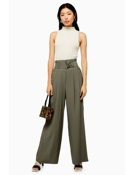 Twill Wide Leg Trousers by Topshop