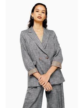 Salt And Pepper Double Breasted Blazer by Topshop