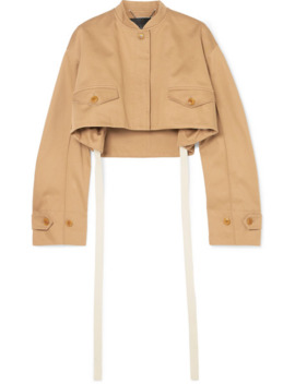 Cropped Cotton Drill Bomber Jacket by Givenchy