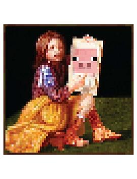 "Jinx Minecraft Pig Portrait Wall Poster, 24"" X 24"", Actual In Game Picture by Jinx"