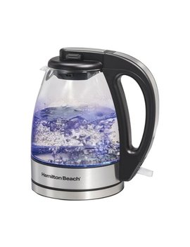 1 L Electric Kettle   Black/Stainless Steel by Hamilton Beach
