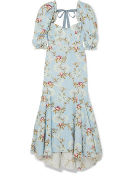 Floral Print Cotton Blend Faille Dress by Brock Collection