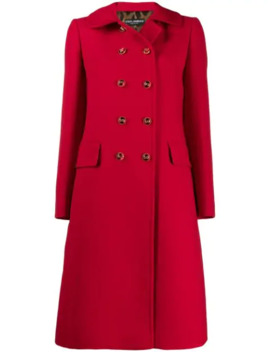 Double Breasted Midi Coat by Dolce & Gabbana
