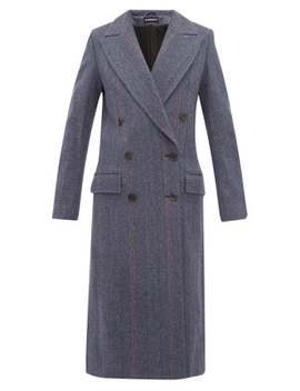 Double Breasted Wool Blend Coat by Ann Demeulemeester