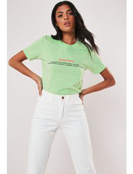 Mint Optimistic Definition Graphic T Shirt by Missguided