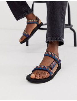 Teva Original Universal Tech Sandals In Blue Print by Teva