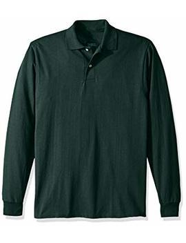 Jerzees Men's Spot Shield Long Sleeve Polo Sport Shirt by Jerzees
