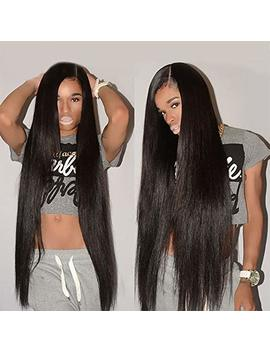 Straight Full Lace Wig Human Hair 16 Inch Brazilian Straight Wig With Baby Hair Pre Plucked 150% Density Human Hair Full Lace Wigs For Black Women Natural Color by Fashion Plus