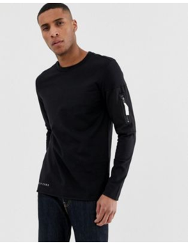 Jack &Amp; Jones Core Long Sleeve Top With Arm Zip Detail by Jack & Jones
