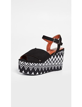 X Missoni Engie Wedge Sandals by Castaner