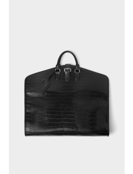 black-mock-croc-suit-carrier--view-allbags-and-backpacks-man by zara
