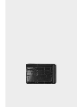 animal-print-embossed-black-card-holder--view-allbags-and-backpacks-man by zara