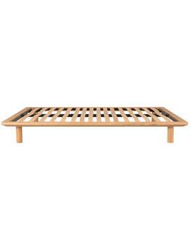 platform-bed-oak-main-unit-double by muji