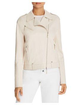 Bernice Leather Moto Jacket by Lafayette 148 New York