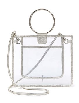 Peekaboo Clear Le Pouch Ring Handle Crossbody by Thacker