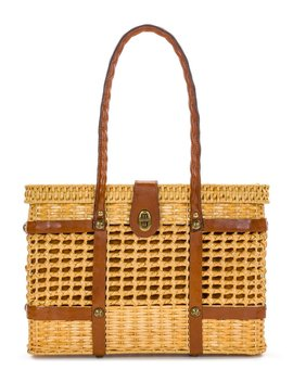 Woven Straw Asola Satchel by Patricia Nash